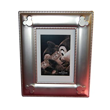 disney world exclusive mickey mouse icon silver metal photo frame 5x7 - Disney World Picture Frames
