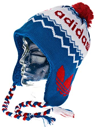 adidas Peruvian Beanie BLAU X52802  Amazon.co.uk  Clothing 5ed5a427521