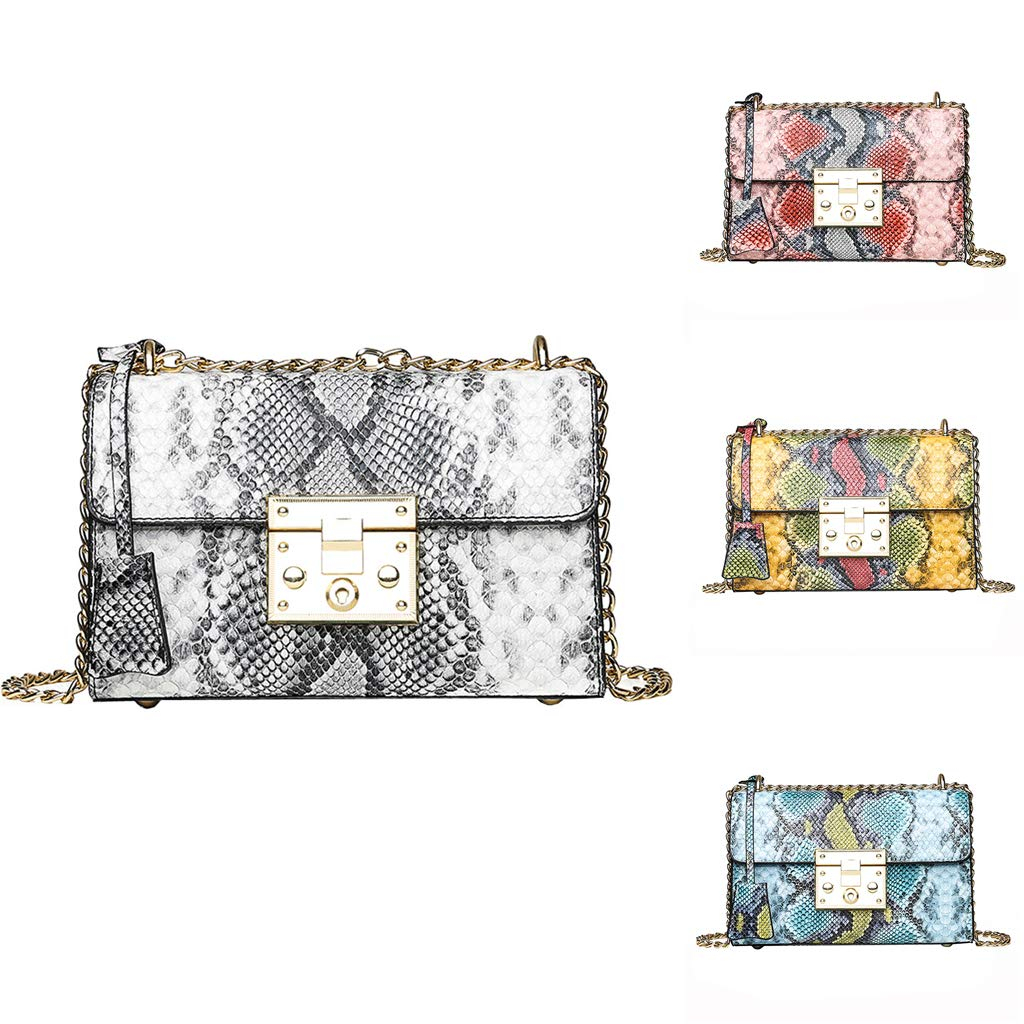 FGDJEE Women Christmas Leather Chain Snakeskin Purse Crossbody Bags Handbags Wallets by FGDJEE