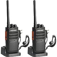 Zastone ZT-99 Walkie Talkies recargable, UHF 400-470Mhz, 16 canales, batería de ion de litio y cargador incluidos…