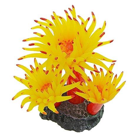Saim Acuario Decor Plantas Acuáticas Plantas Artificiales Plástico Circulado Simulación Coral Artificial Adorno para pecera Tank