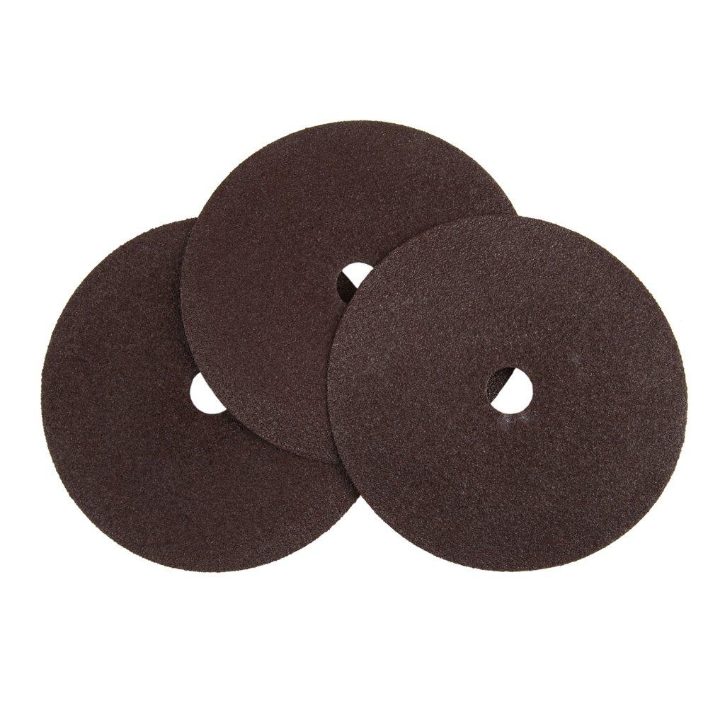 Lincoln Electric KH215 Abrasive Sanding Disc, Fiber Backing, Aluminum Oxide, 7'' Diameter, 24 Grit  (Pack of 18)