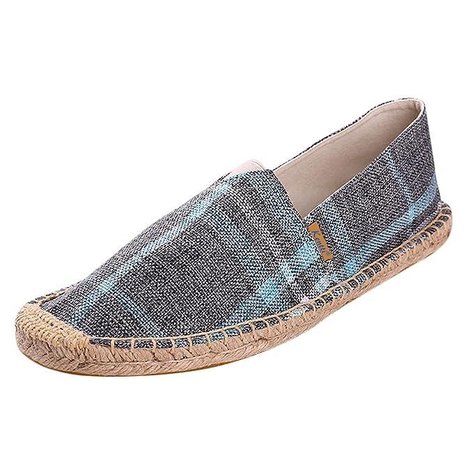 Kentti Classic Check Stoff Herren Espadrilles Chaussures homme Espadrilles