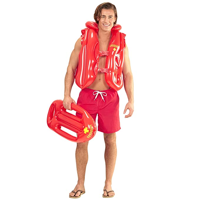 Amazon.com: Inflatable Lifeguard Float - 73cm - Adult - Adult Fancy Dress Accessory: Toys & Games