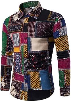 Hombre Camisa Hombre Camisetas Camisa de Manga Larga Casual para Hombre Camisas de Vestir de Talla Grande Slim Fit Camisas de impresión Camiseta térmica Blusa Tops: Amazon.es: Deportes y aire libre