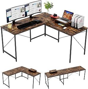 Bestier L-Shaped Computer Desk, 95.2