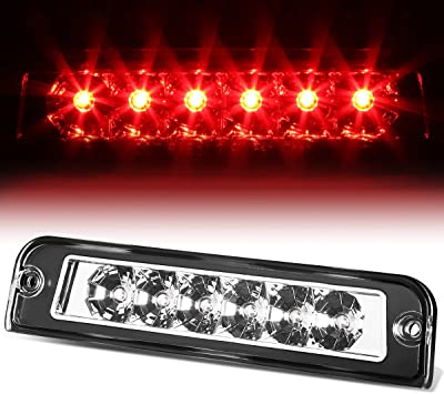 Amazon Com Rear High Mount Chrome Housing Led 3rd Third Tail Brake Light Lamp Replacement For Jeep Wrangler Tj 97 06 Automotive