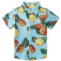 Ahegao Little & Big Boy's Button Down Hawaiian Shirts Short Sleeve Cool Cartoon...