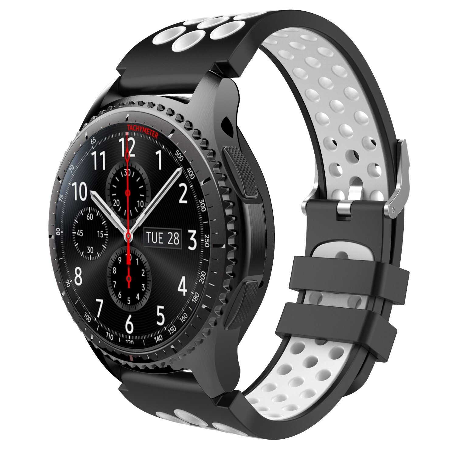 TiMOVO Sport Band Fit Samsung Gear S3 / Galaxy Watch 46mm, Perforated Silicone Replacement Strap Compatible with Samsung Gear S3 Frontier, S3 Classic, ...