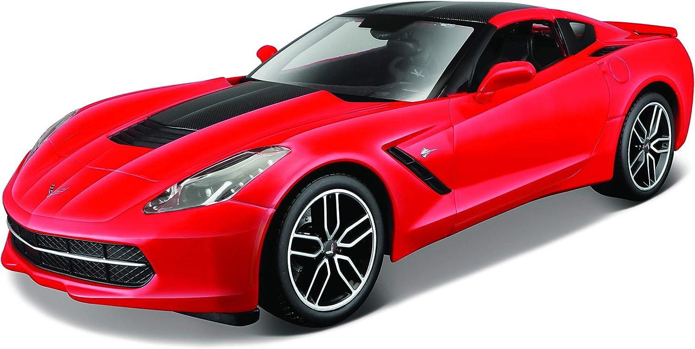 Maisto 38132 Modellino Auto 2014 Corvette Stingray Z51 Argento Scala 1:18