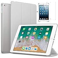 "for Apple iPad Mini 4 case.(7.9"") Ultra Slim Smart Case Folio with (Translucent Back) Stand Flip Cover case FREE With glossy screen guard For Apple iPad Mini 4 case.(7.9"") Models. Apple Pad Mini 4 (Gray)"