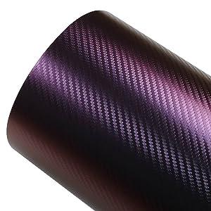 ATMOMO Purple and Blue Car Chameleon Wrap Auto Carbon Fiber Wrapping Film Vehicle Change Color Sticker Tint Vinyl Air Bubble Free (30cm x 152cm)