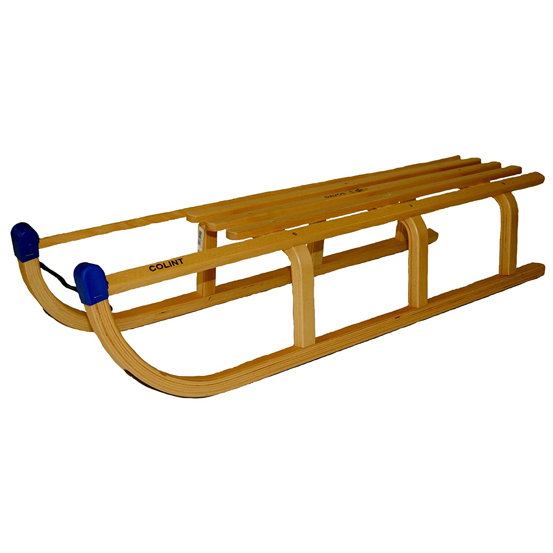 Rix Holzschlitten Davos 110 cm, belastbar bis 150 Kg