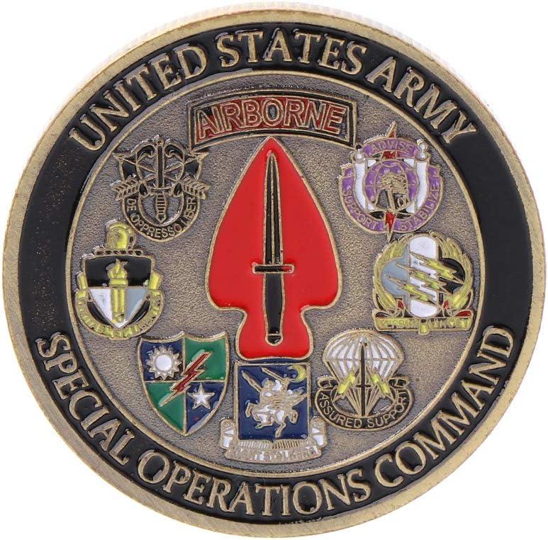 Burane Jin United States Army Airborne Pi/èce comm/émorative Souvenir Challenge Collectible Coins Collection Art Craft Cadeau