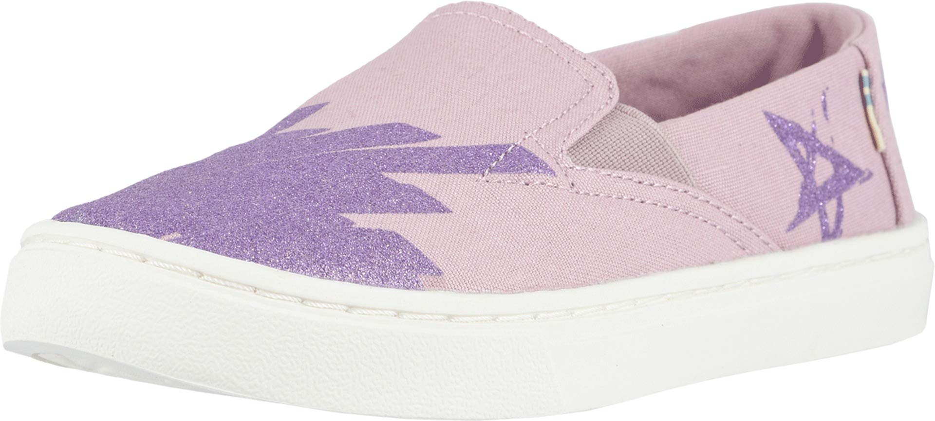 TOMS Youth Luca Slip-On Shoes, Size: 3.5 M US Big Kid, Color: Brnsh Lilac Glt Star