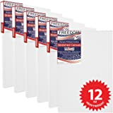 US Art Supply 11 X 14 Inch 12 Ounce Primed Gesso Professional Quality Acid-Free Stretched Canvas 6-Pack - 3/4 Profile 12 - (1 Full Case of 6 Single Canvases)