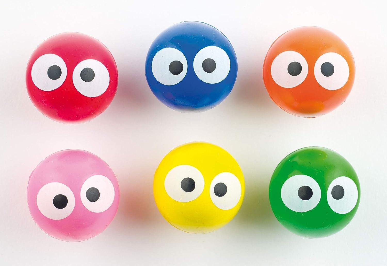 Baker Ross- Pelotas de Goma (Pack de 6) de Colores Fluorescentes ...