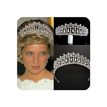 SWEET Vintage Wedding Bridal Pearl Crown Diana Tiara Princess Hair Accessories
