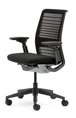 Bureau Büroeinrichtung Chaise Think Creative Steelcase De Noir New gfby76