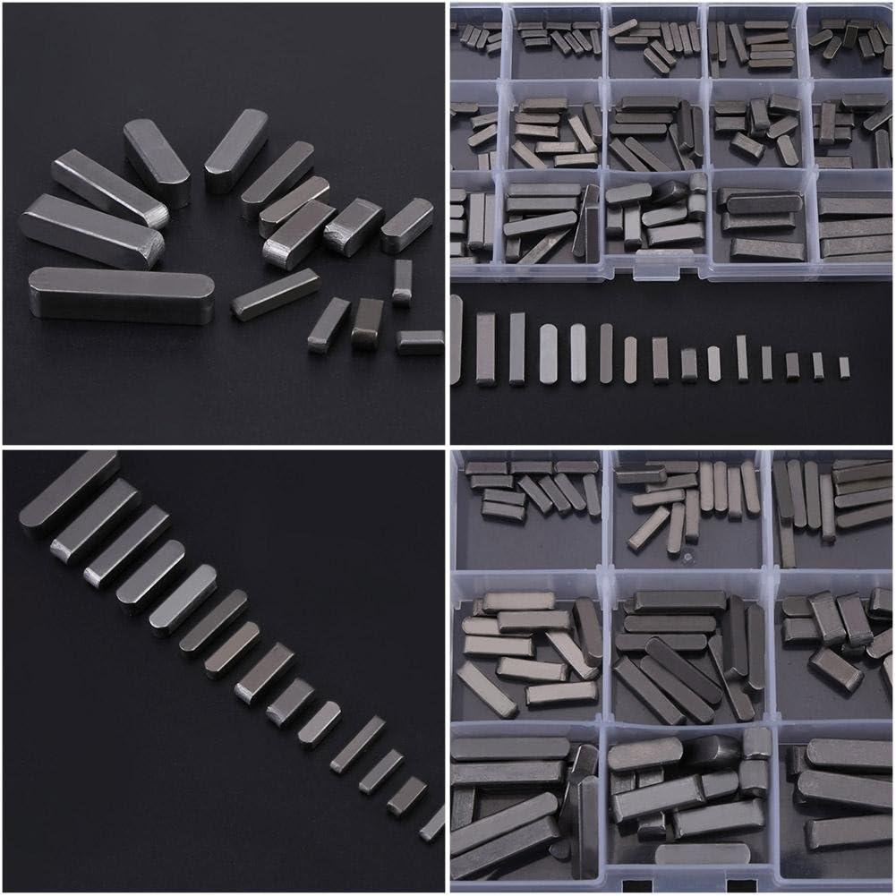 ensemble de cl/és pour arbres dentra/înement parall/èles de 8 /à 30 mm en acier inoxydable Jeu de cl/és /à plume aux extr/émit/és rondes paquet de 140