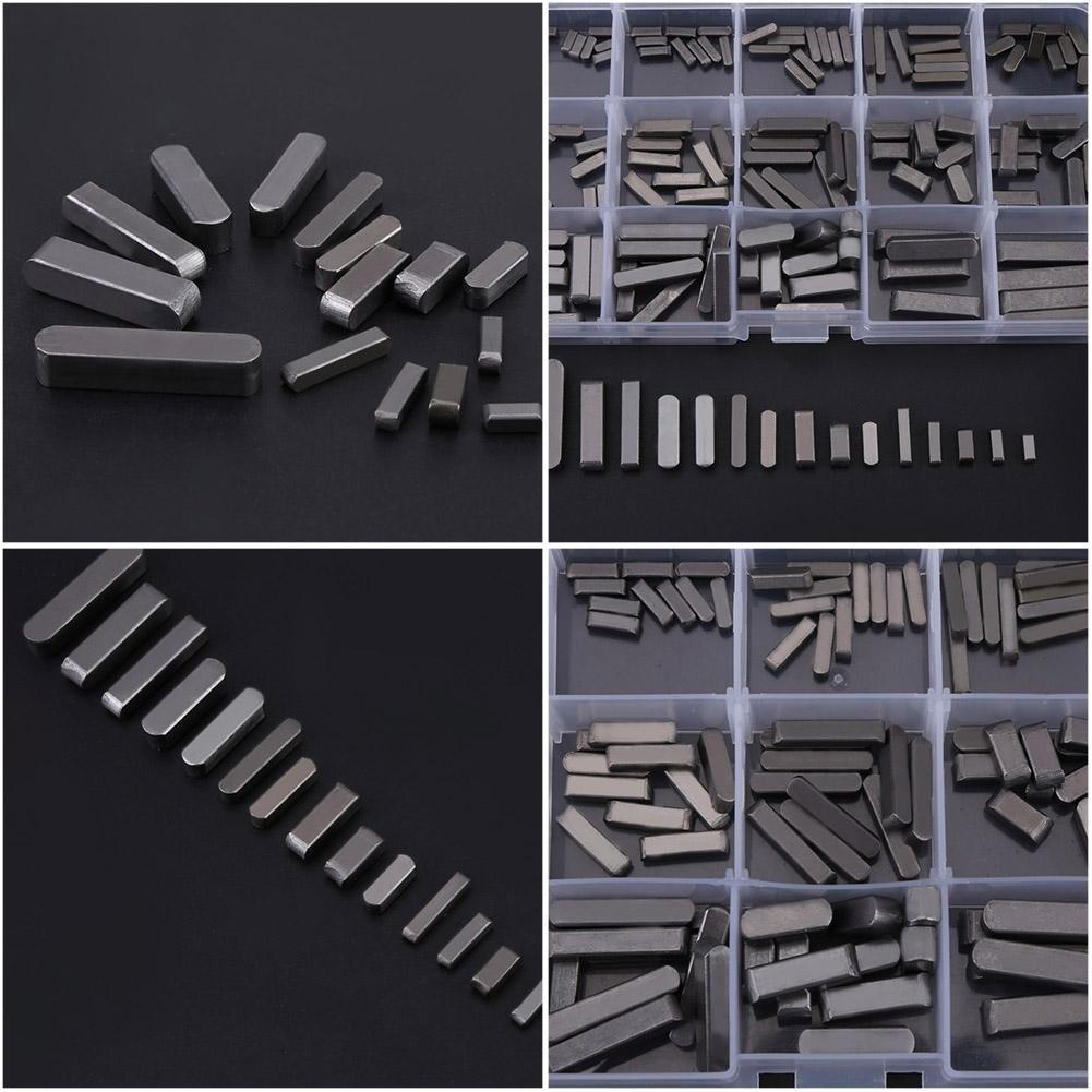 Rundkeil 25 mm 16 mm 140-tlg Passfedern f/ür Parallelantrieb 12 mm 8 mm 20 mm 10 mm Rundkeil mit Passfeder 30 mm