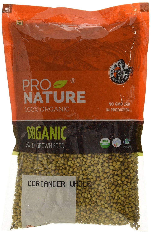 Pro Nature 100% Organic Coriander Whole, 200 g