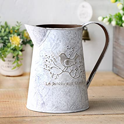 Amazon Vancore French Style Shabby Chic Mini Metal Pitcher
