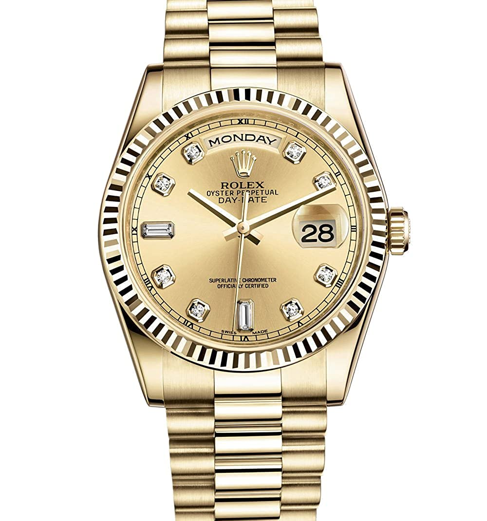Amazon Com Rolex Day Date President 36mm Yellow Gold Watch With