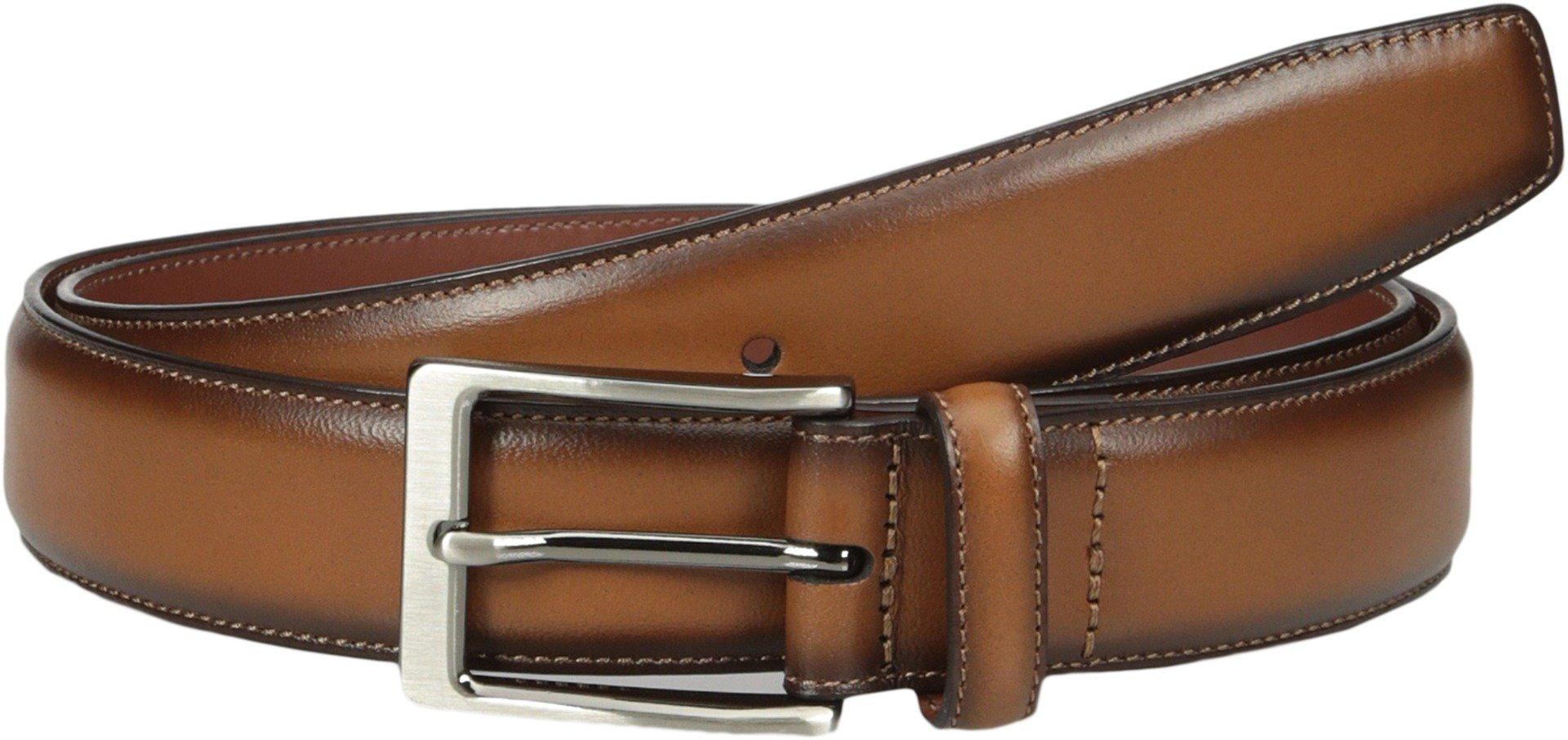 Perry Ellis Men's Perry Ellis Portfolio Men's Amigo Dress Belt, Luggage, 34