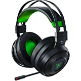 Razer Nari Ultimate for Xbox One Wireless 7.1 Surround Sound Gaming Headset: Hypersense Haptic Feedback - Auto-Adjust Headband - Green Lighting - Retractable Mic - For Xbox One - Classic Black/Green