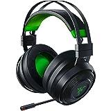 Razer Nari Ultimate for-Xbox One Wireless 7.1 Surround Sound Gaming Headset: Hypersense Haptic Feedback - Auto-Adjust Headband - Green Lighting - Retractable Mic - For-Xbox One - Classic Black/Green