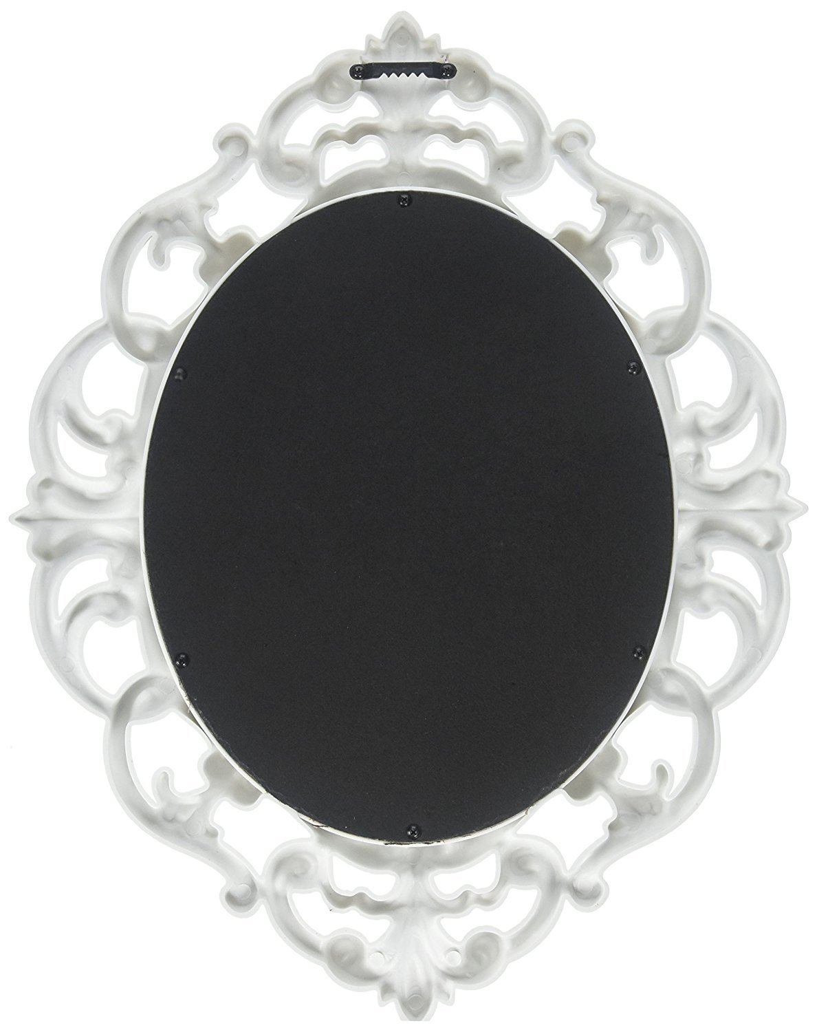 Kole White Oval Vintage Wall Mirror 2