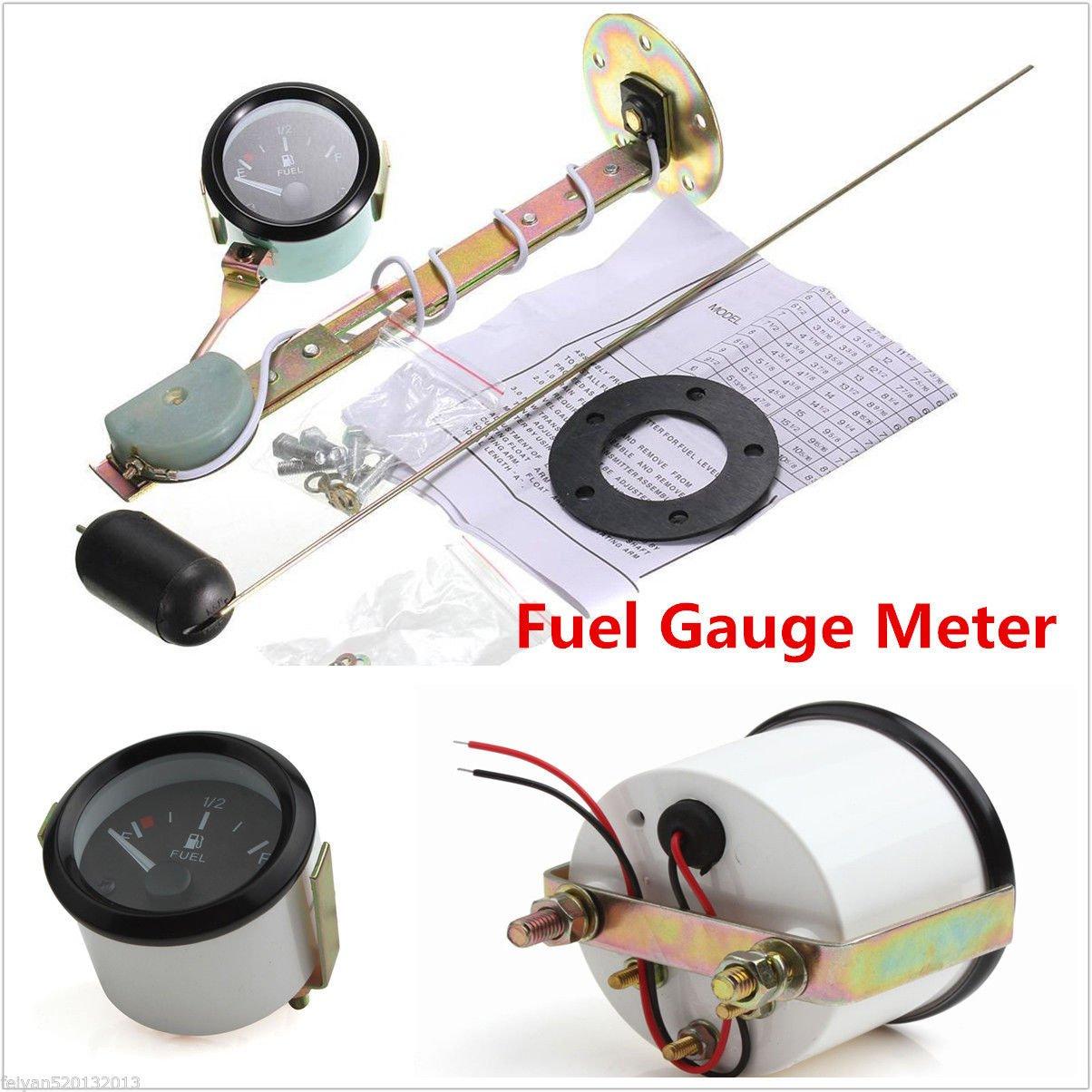 Medidor de nivel de combustible para coche, 52 mm, con sensor de combustible, puntero universal E-1/2-F BEEAUTO