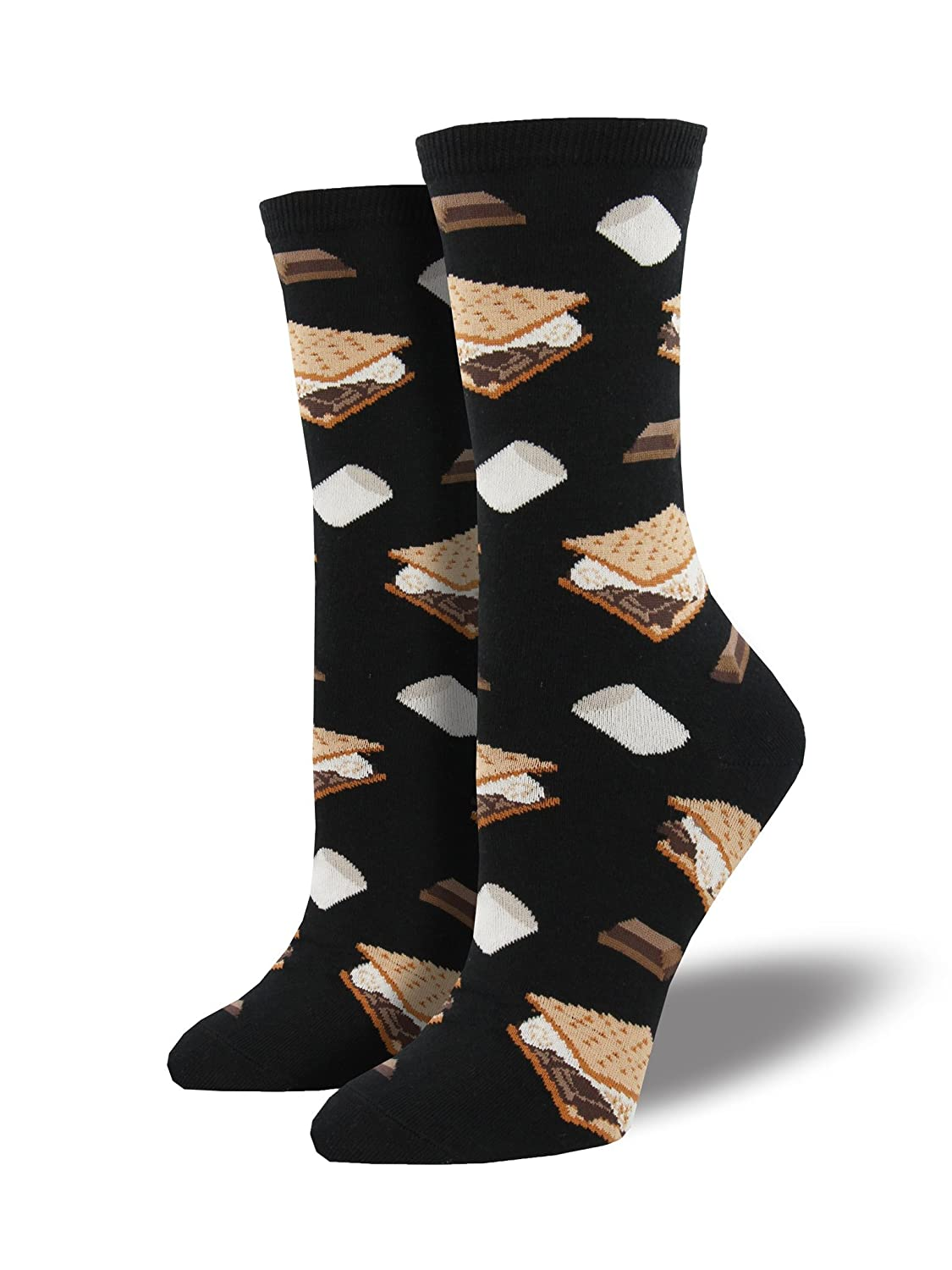 Socksmith Womens Want S'More? black WNC781-BLK