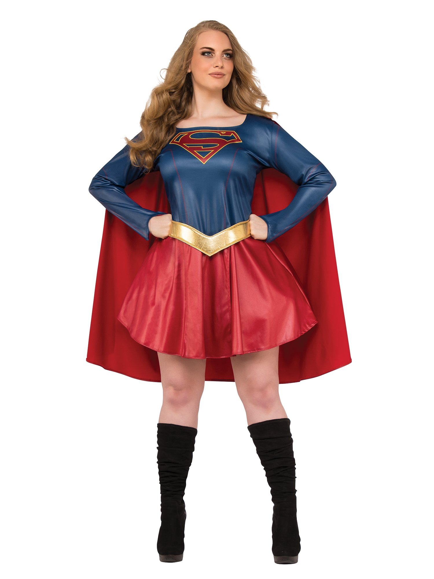 - 71fN87kwqML - Rubie's Women's Plus Size Supergirl TV Costume