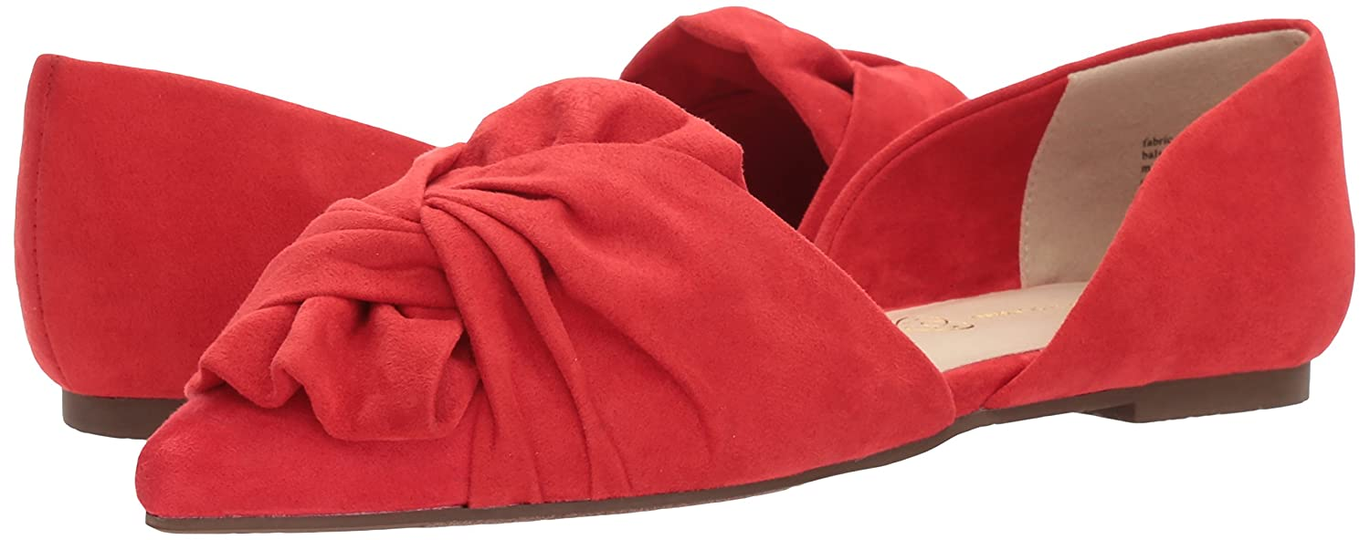 BC Footwear Women's Snow Cone Ballet Flat B0733TX9P7 10 B(M) US Red V-suede