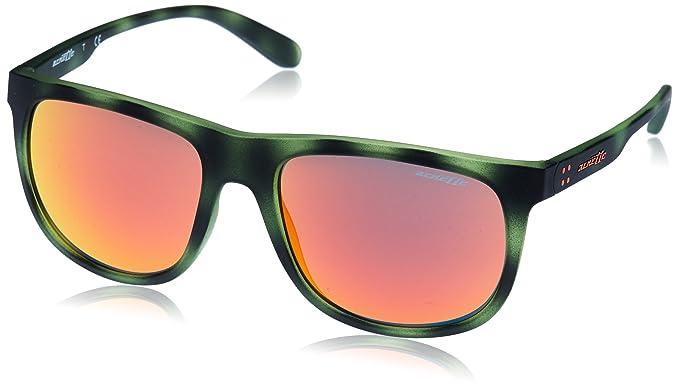 Arnette Crooked Grind, Gafas de Sol para Hombre, Matte Green Havana, 56