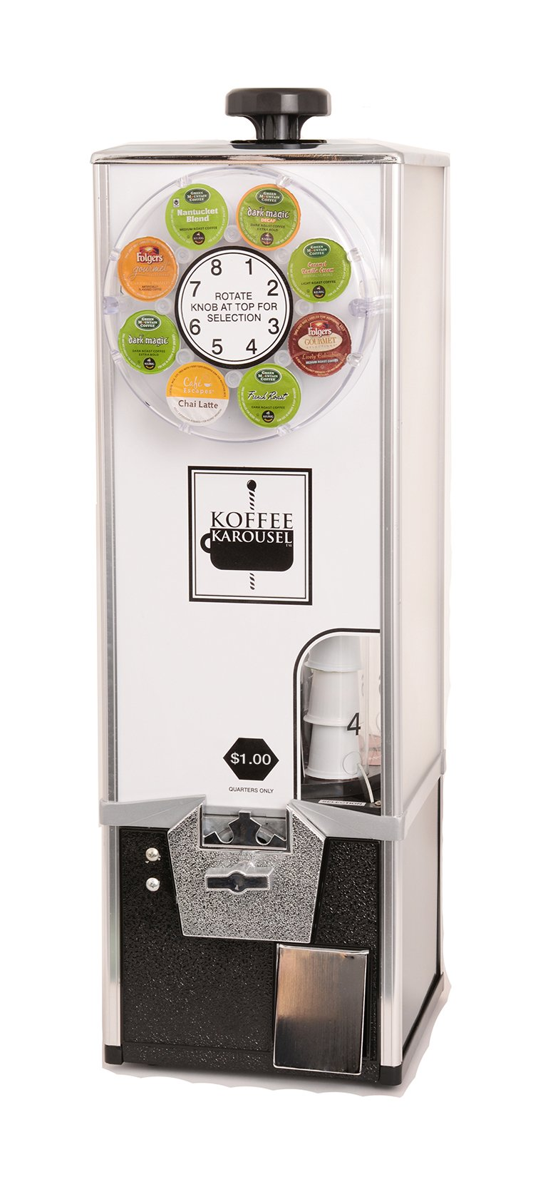 Koffee Karousel K-Cup Vending Machine (4-Quarter Coin Mechanism) by KK Manufacturing, LLC (Image #1)