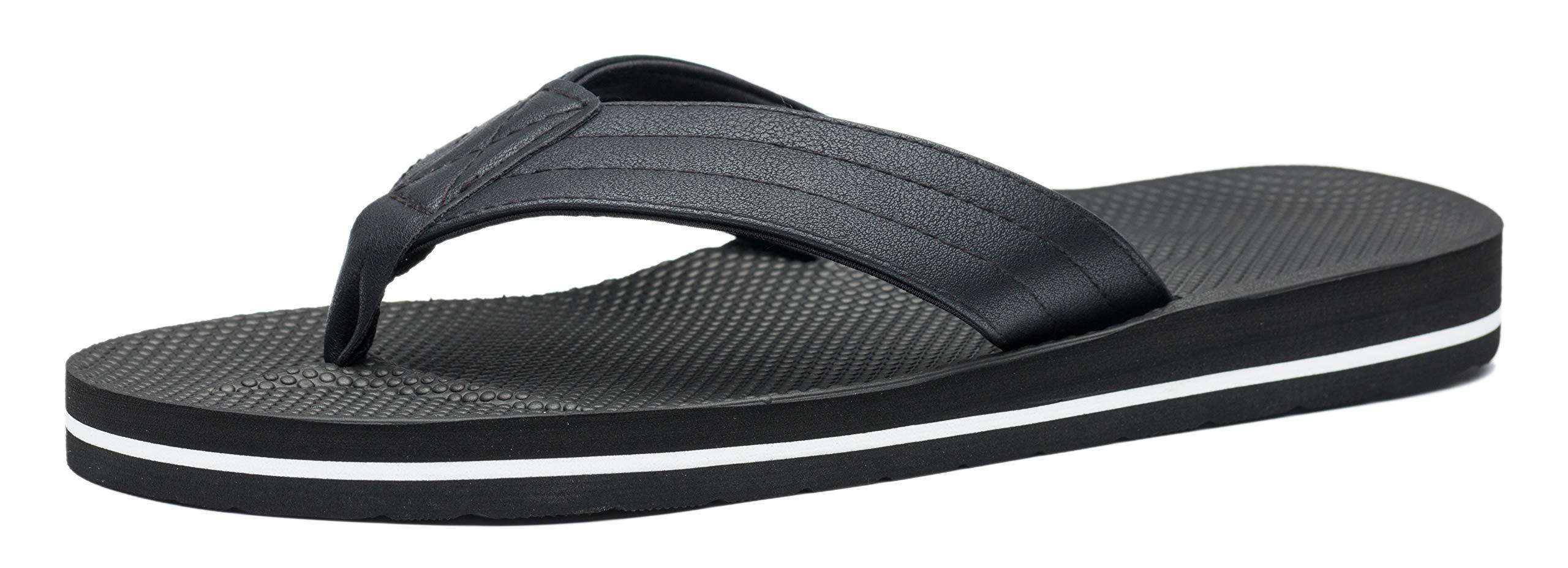 VIIHAHN Men's Flip Flops Summer Beach Sandals Extra Large Size Arch Support Slippers