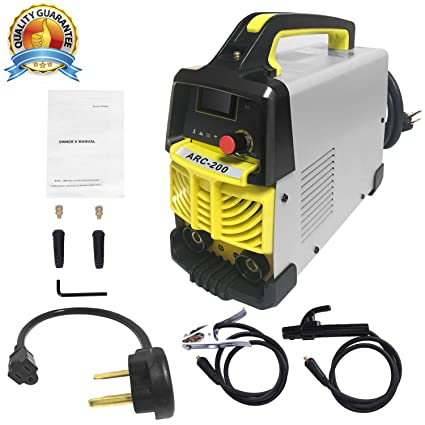 ARC Welding Machine, 200Amp Power, IGBT AC-DC Dual Voltage (110/220V)  Beginner Welder Use Welding Rod Equipment Tools Accessories