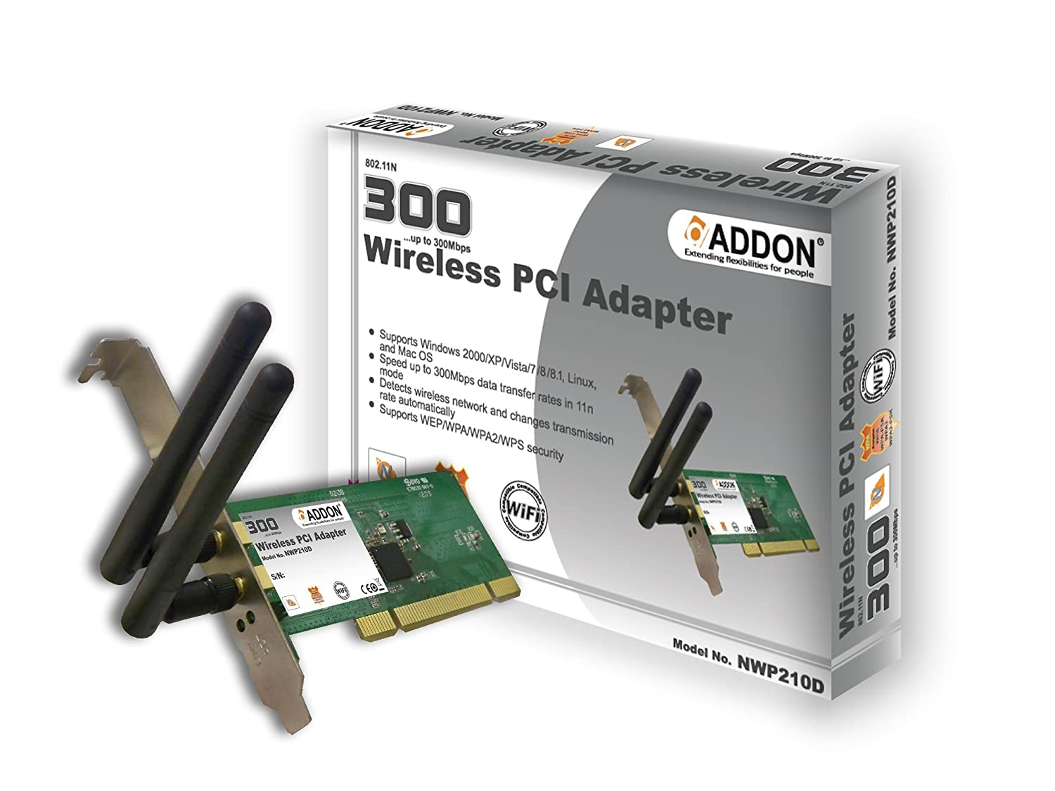 Addon NWP210D 11N 300Mbps Wireless PCI Adapter: Amazon co uk