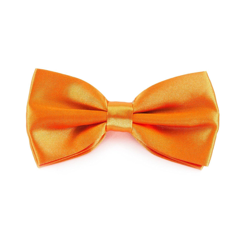 Kinder Fliege Schleife Größe verstellbar Festlichkeit Hochzeit Anzug Smoking (Orange)