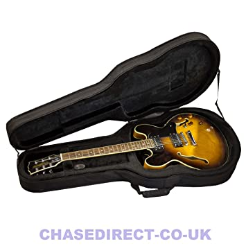TKL 335 Semi acústica eléctrica guitarra duro caso suave acolchado de espuma con correas