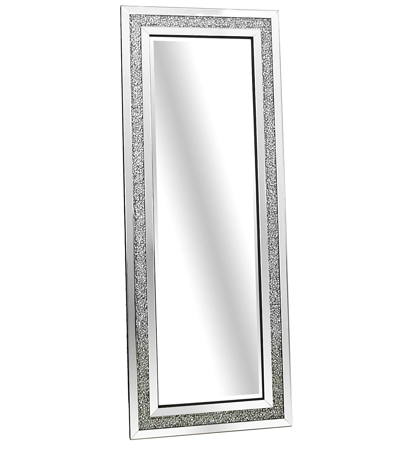 Barcelona Trading Gatsby Crystal Glass Framed Full Length Bevelled Leaner Wall Mirror 71