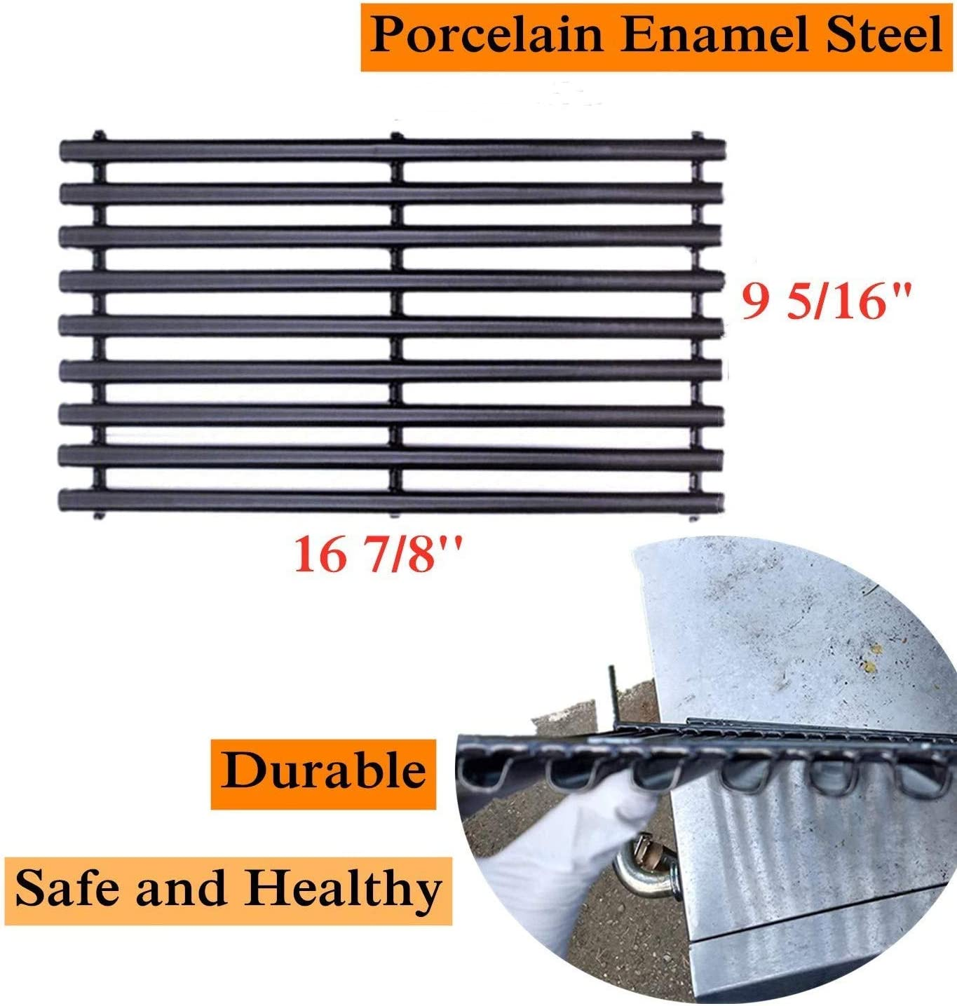 461442513 Porcelain Enameled Grates Replacement Parts for Master Chef Gas Grill WELL GRILL 3-Pack Cooking Grid Grate Barbecue Grill Grate for Charbroil 463420507 Kenmore 463420507