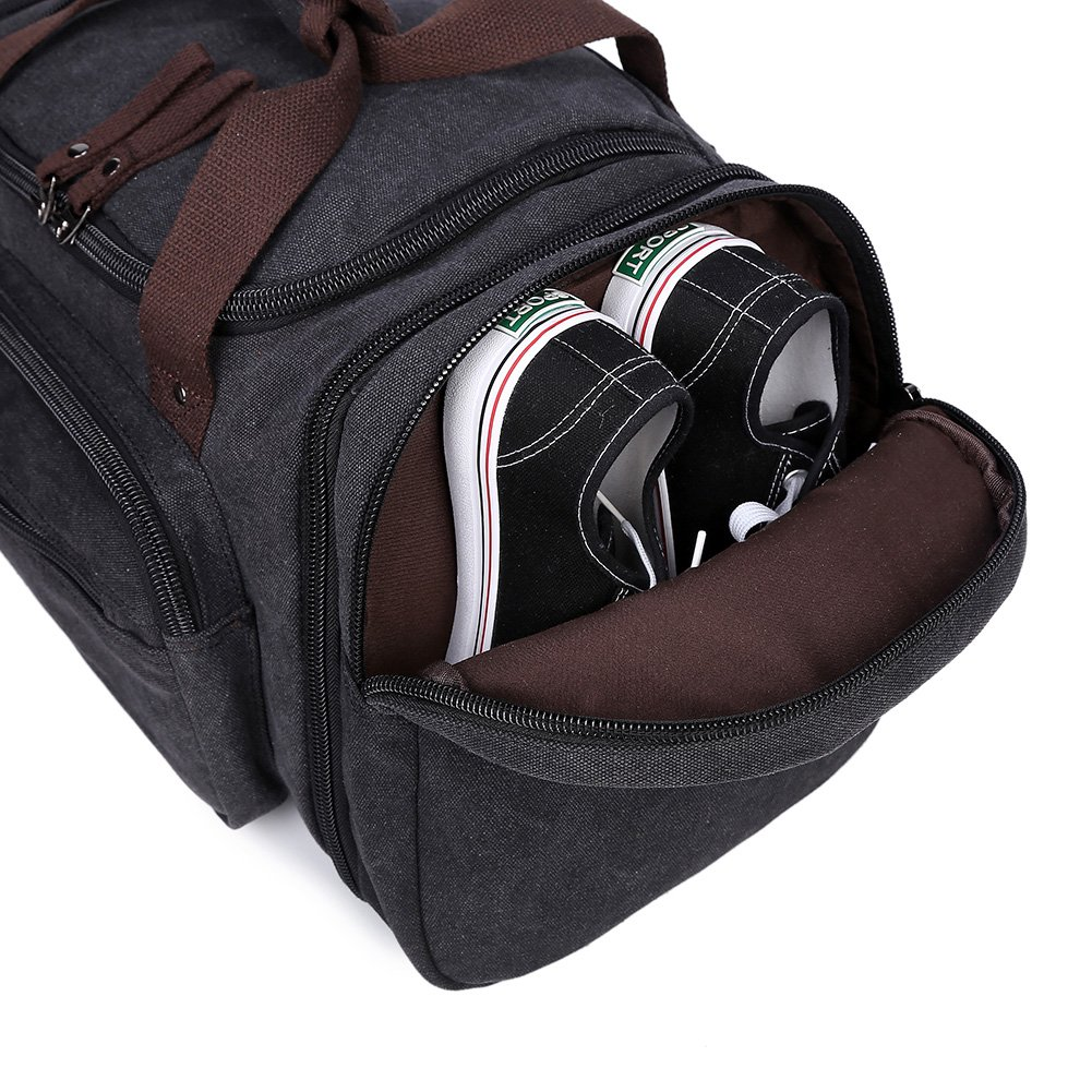 Canvas Duffle Bags Fresion New Two Side Pockets For Extensions Unisex Weeke