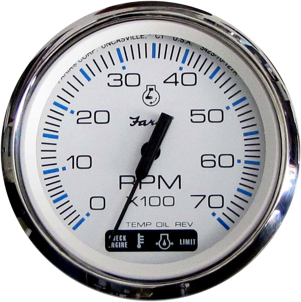 "Suzuki Outboard Parts 4"" Tachometer White 99105-80101"