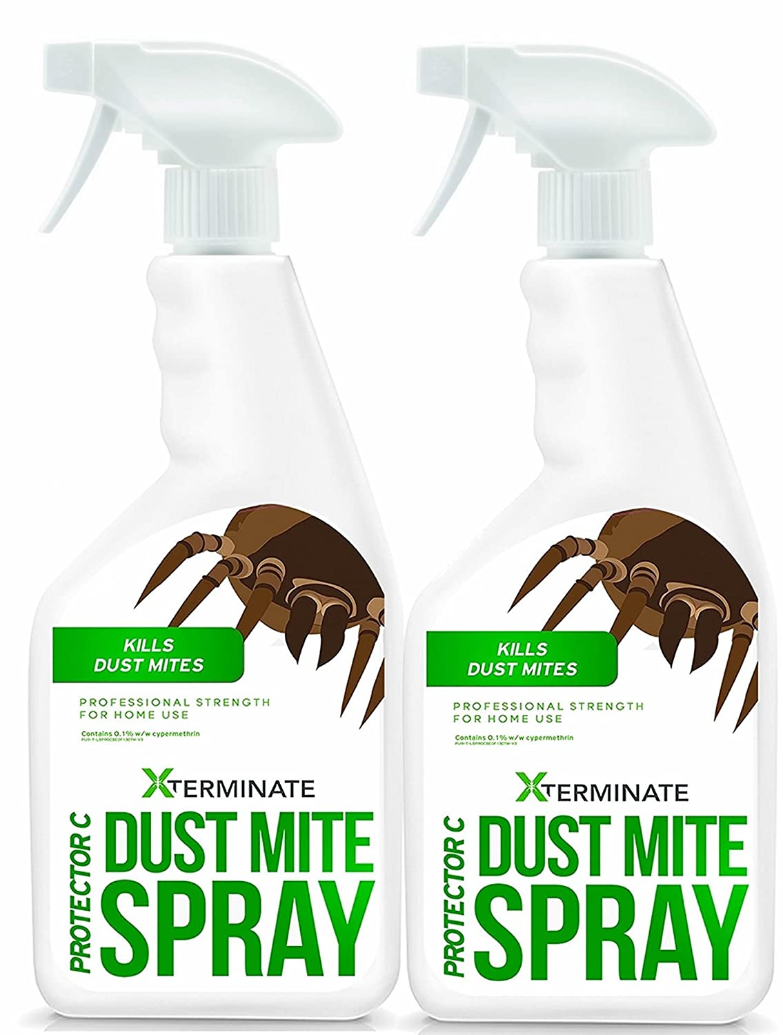 Xterminate Dust Mite Killer Spray Treatment (2 x 1L) • Professional Strength Formula For Home Use • For Bedrooms, Mattresses, Carpets, Furniture & More ...
