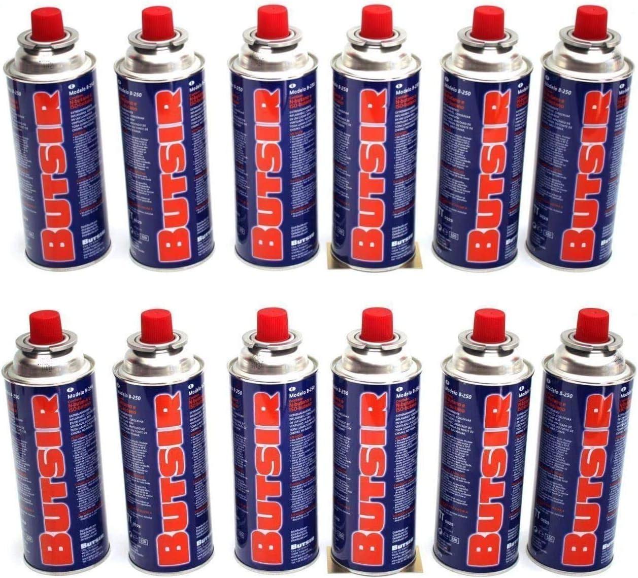 12 Cartucho Gas Butsir Cartucho de Gas Butano B-250 Envio 24Horas Por Asm Urgente Elige Vendido y Enviado Por Chollo-Express