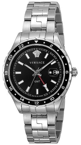 Versace hellenyium GMT Negro Dial Mens Reloj v11100017: Amazon.es: Relojes